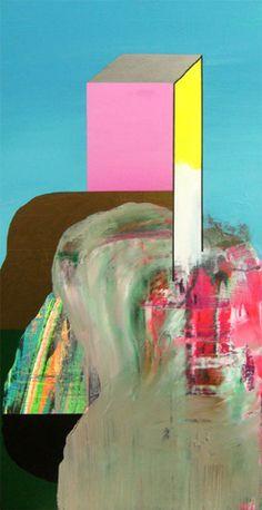 Pedro Paricio - Planificación Urbanística (2009)  acrylic on canvas (77x41cm)