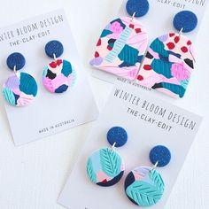 Bright and Colourful Clay Jewelry by Winter Bloom Design