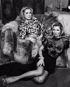#CatherineDeneuve #KateMoss #Glamour & #Chic for days!!! by #PatrickDemarchelier