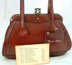 1964 Etienne Aigner Bag With Price List For Matching Accessories Vintage Handbags Purses