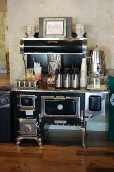 Great stove top serving station.