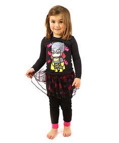 Another great find on #zulily! Batgirl Scribblenauts Tutu Pajama Set - Toddler & Girls by Batgirl #zulilyfinds