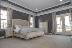 Lovely Master Bedroom Suite including many builder upgrades. Tray ceiling, extra large walk in closet, sleeping porch, and upgraded floor padding to name  a few.