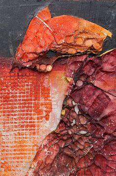kitmahoney | kinetic eye | paint, acrylic textures, tyvec, resin