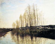 Flordlandskap, 1900 Carl Fredrik Hill (31 May 1849 - 22 February 1911 - Swedish)