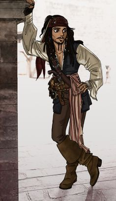 It's Captain Jack Sparrow!I just have to say it took me forever to draw. Pirates of the Caribbean Jack Sparrow Drawing, Sparrow Art, Pirate Art, Pirate Life, Anime Pirate, Pirate Ships, Caribbean Art, Pirates Of The Caribbean, Arte Disney