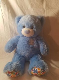 "Build-a-Bear 16"" Autism Awareness Teddy Stuffed  Retired #BuildaBear"