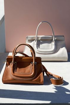 """The Chloé Spring 2015 Accessories Collection – """"Everston"""" bag in small grain leather & smooth calfskin"""