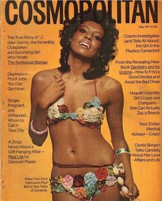Cosmopolitan magazine, MAY 1971 Model: Jane Hoffman-Davenport/ Month a year I waz born cool Vintage Black Glamour, Vintage Beauty, 70s Fashion, Look Fashion, Fashion Vintage, Dark Man, Black Magazine, Jet Magazine, Streetwear