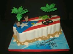 Viva Puerto Rico - Cakes by Ruthie - Cakes for Special Occasions Cake Cookies, Cupcake Cakes, Cupcakes, 70th Birthday Cake, Birthday Ideas, Comida Boricua, Puerto Rico Food, Puerto Rican Recipes, Engagement Cakes