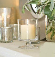 GLASS Candle Holder Hurricane Lantern Vase Storm Centrepiece Votive or Pillar