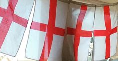I know football isn't coming home but struggling to get daughter to take flags down. They maybe up till 2022 at this rate! #England #worldcup2018 #parenthood