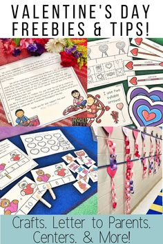 I'm sharing a FREE letter to send home about your Valentine's Day celebration! You will also find my favorite Valentine's Day crafts, centers, activities, tips, and freebies that are perfect for preschool, kindergarten, or first grade students! #valentinesday #kindergarten #firstgrade #crafts #ela