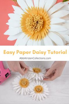 How to Make Paper Daisy Flowers Step by Step Learn how to make your own paper daisy flower blooms wi How To Make Paper Flowers, Tissue Paper Flowers, Diy Flowers, Handmade Paper Flowers, Flower Paper, Flower Crafts, Paper Crafts Origami, Origami Easy, Money Origami