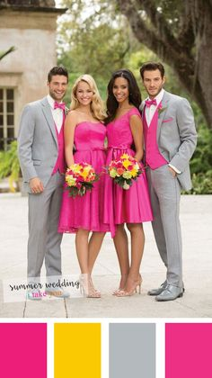 Hot pink and grey Summer Wedding colours | itakeyou.co.uk