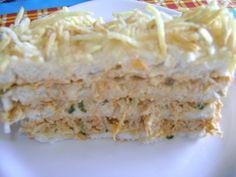 Receita de Torta fria de salpicão diferente.