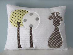 A Sleepy Little Giraffe Pillow by gigglesandtoots on Etsy