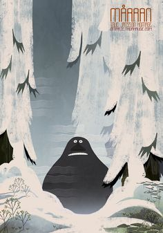 Moomin / Tove Jansson homage by Marie Thorhauge, via Behance Tove Jansson, Illustration Inspiration, Children's Book Illustration, Moomin Wallpaper, Les Moomins, Sailor Moon Background, Moomin Valley, Cartoon Shows, Fantasy Creatures
