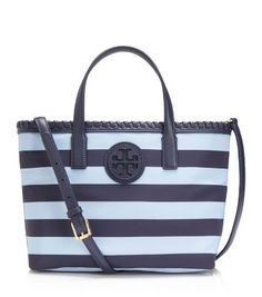 Tory Burch Marion Printed Nylon Small Tote