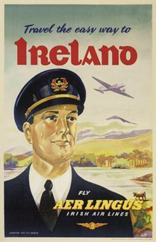 A handsome captain is the star of this Aer Lingus advertisement. http://motheach.blogspot.com