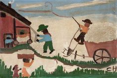 ane River Cotton Gin  Clementine Hunter (1887–1988)  The American Museum in Britain