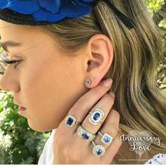 Blue  sky Thursday 😘💕... #bluesky #ceylonsapphire #diamonds #classic #leskesdiamondssparklemore #portfairyjeweller #portfairy #sunnydays #style    #Regram via @loveleskesjewellers Ceylon Sapphire, Sunny Days, Diamond Rings, Jewelry Stores, Thursday, Diamonds, Sky, Jewels, Bridal