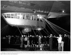 Up Ship! The Hindenburg prepares to cast off from Lakehurst N.A.S. on return trip to Germany, May 11, 1936.