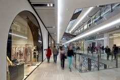 Emporium Shopping Centre Melbourne features beautiful travertine throughout the centre and in a number of stores. Supplied by Signorino Tile Gallery.