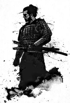 """The samurai must always rise and move on, for new challenges will always come. Japanese Art Samurai, Japanese Warrior, Oni Samurai, Samurai Warrior, Samurai Artwork, Samurai Drawing, The Last Samurai, Ninja Art, Miyamoto Musashi"