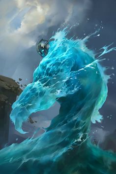 Brilliant take on a water elemental, and some fabulous digital painting here.