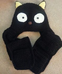 Cat hat with scarf