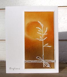 By Birgit Edblom (Biggan at Splitcoaststampers). Wow! Wheat embossed in white.