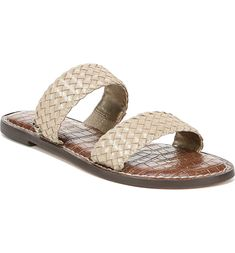Sam Edelman Gala Two Strap Slide Sandal (Women) Trendy Fall Outfits, Shoe Show, Slide Sandals, Wardrobe Staples, Espadrilles, Nordstrom, Leather, How To Wear, Separates