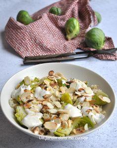 choux de Bruxelles sauce sésame citron - Un jardin dans ma cuisine