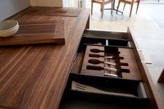 HB Flatware Storage Elegant and Highly Functional Drawer Accessories for Modern Kitchens Kitchen Utensils, Kitchen Cabinets, Kitchen Appliances, Kitchen Interior, Kitchen Decor, Kitchen Ideas, Flatware Storage, Drawer Storage, Contemporary Kitchen Design