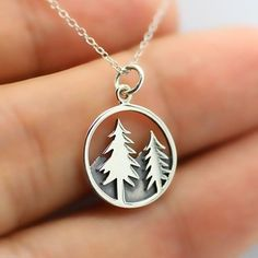 Authentic Outdoor Pine Tree Necklace - FREE SHIPPING WORLDWIDE