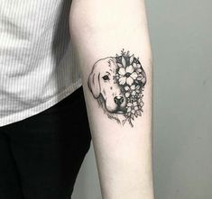 Dog tattoo discovered by ath_anna on We Heart It - Dog tattoo discovered by ath_anna on We Heart It Image uploaded by ath_anna. Find images and videos about sweet, dog and arm tattoo on We Heart It – the app to get lost in what you love. Dog Tattoos, Animal Tattoos, Body Art Tattoos, Small Tattoos, Sleeve Tattoos, Tatoos, Lower Leg Tattoos, Arlo Tattoo, Tattoo Oma