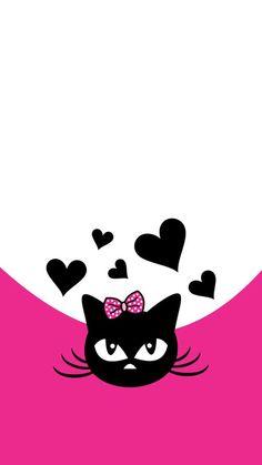 32 Trendy Ideas For Wallpaper Desktop Cat Pictures Heart Wallpaper, Wallpaper Backgrounds, Wallpaper Desktop, Boxing Day, Wallpaper Iphone Disney, Cat Cards, Cute Illustration, Cute Wallpapers, Cute Art