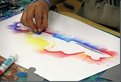 Step-by-step instructions showing how to create chalk pastel sky