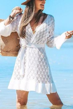 Hollow Ruffles Hem Bleted Cover Cardigan – vacation outfit ideas,vacation wear,vacation clothes,outfit vacation,vacation fashion,summer vacation style,travel dresses summer,summer vacation clothes  #vacationdresses #caribbean #beach #vacationdressesmexico #vacationdressescasual #summer #boho #maxi #hawaii #streetstyle #fashion #stripeddressoutfit #vacationdressesbeach