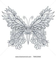 Paisley Butterfly Outline by Vector Ninja, via ShutterStock Coloring Book Pages, Printable Coloring Pages, Coloring Sheets, Colorful Drawings, Colorful Pictures, Amazing Pictures, Butterfly Outline, Butterfly Mandala, Butterfly Design