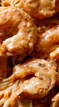 Spicy Shrimp Pasta with Creamy Tomato Sauce