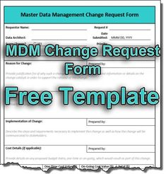 Learn how to create a MDM change request