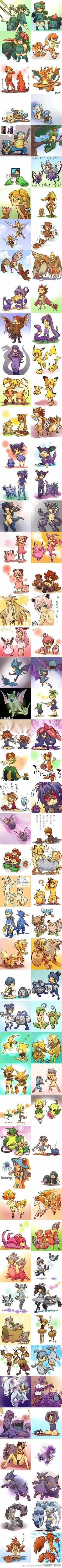 Pokemon in human form… I feel like these would be the best cosplay ever