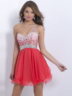 2014 Style A-line One Shoulder Rhinestone Homecoming Dresses/Cocktail Dresses #GC228  http://www.beckydress.com/2014-style-a-line-one-shoulder-rhinestone-homecoming-dresses-cocktail-dresses-gc228.html