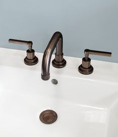 Bronze basin taps from the Alto range of taps, shower fittings and accessories at Aston Matthews