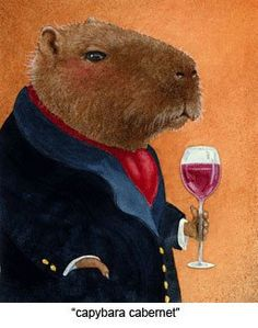 Capybara Cabernet by Will Bullas