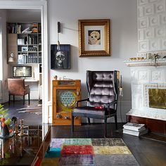 Living room with eclectic accessories | Living room decorating ideas | Livingetc | Housetohome.co.uk