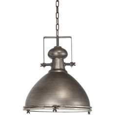 Features:  -Brushed metal industrial pendant light.  -Great addition to your home decor.  -Industrial style.  Product Type: -Bowl pendant.  Style: -Industrial.  Shade Material: -Metal.  Shade Color: -