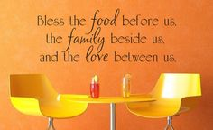 Bless the food before us the family beside by JustWrightVinylDecor, $20.00